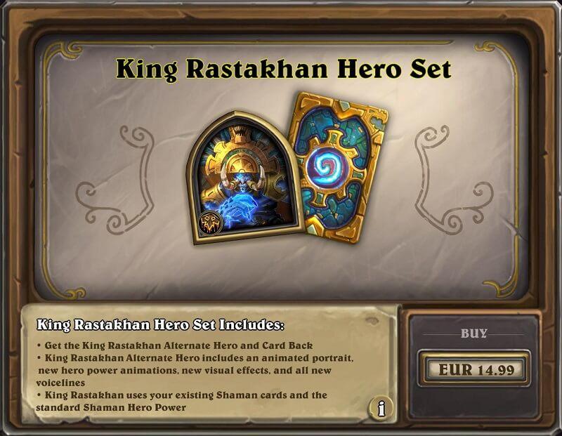 King Rastakhan hős és hátlap