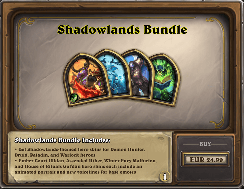 Shadowlands csomag