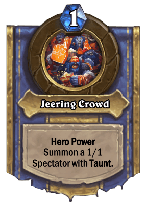 jeering crowd hero power