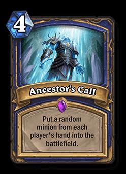 ancestors call hearthstone kártya
