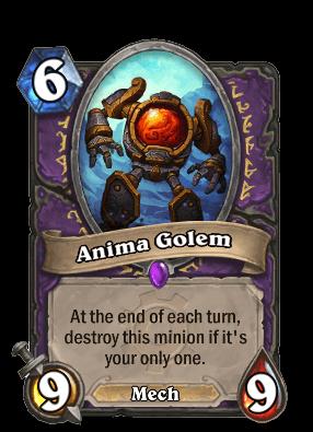 anima golem goblins vs gnomes hearthstone kártya