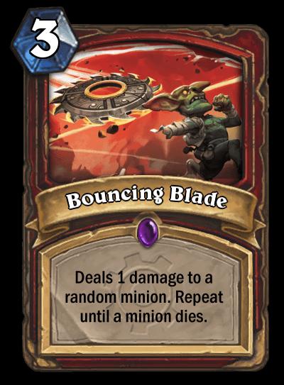 bouncing blade hearthstone kártya goblins vs gnomes
