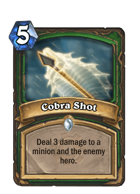 cobra shot goblins vs gnomes hearthstone kártya