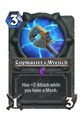 cogmasters wrench goblins vs gnomes hearthstone kártya