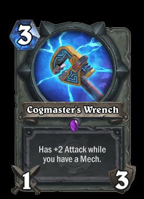 cogmasters wrench goblins vs gnomes hearthstone kártya