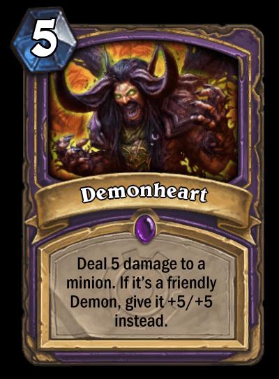 demonheart goblins vs gnomes hearthstone kártya