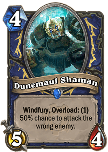dunemaul shaman hearthstone kártya goblins vs gnomes