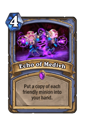 echo of medivh goblins vs gnomes hearthstone kártya