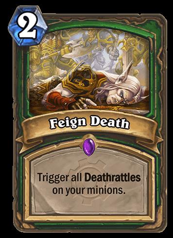 feign death hearthstone kártya goblins vs gnomes
