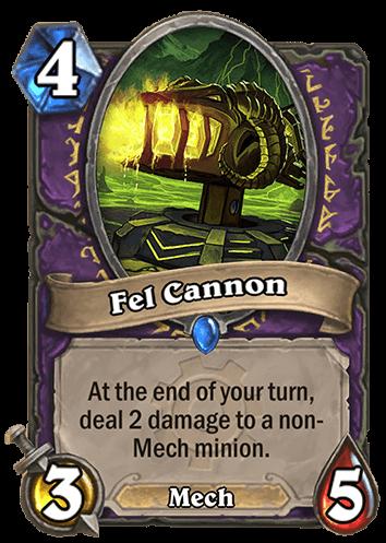 fel cannon hearthstone kártya goblins vs gnomes