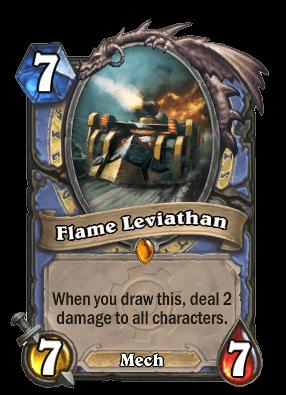 flame leviathan goblins vs gnomes hearthstone kártya