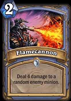 flamecannon hearthstone kártya goblins vs gnomes