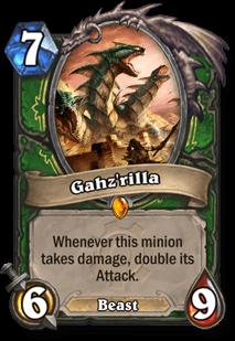 gahzrilla hearthstone kártya goblins vs gnomes