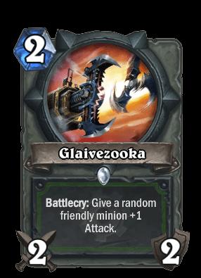glaivezooka goblins vs gnomes hearthstone kártya