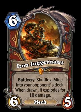 iron juggernaut goblins vs gnomes hearthstone kártya