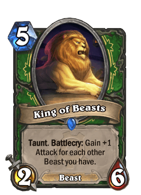 king of beasts goblins vs gnomes hearthstone kártya