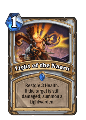light of the naaru goblins vs gnomes hearthstone kártya