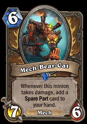 mech bear cat hearthstone kártya goblins vs gnomes