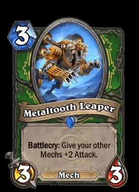 metaltooth leaper goblins vs gnomes hearthstone kártya