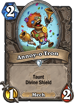 annoy-o-tron goblins vs gnomes hearthstone kártya
