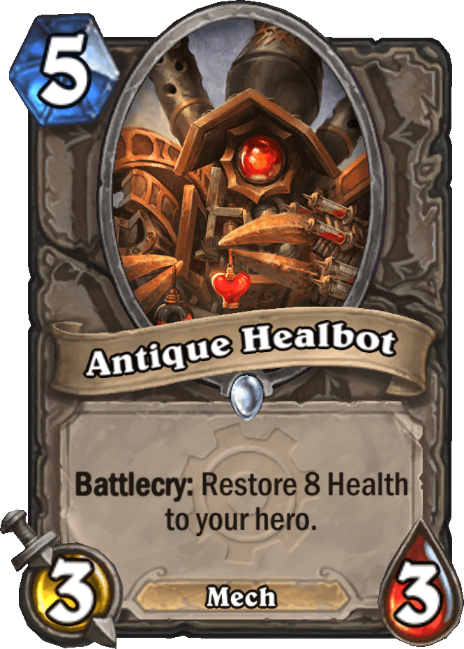 antique healbot goblins vs gnomes hearthstone kártya