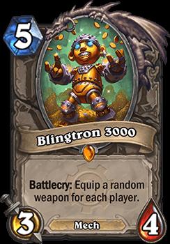 blingtron 3000 goblins vs gnomes hearthstone kártya