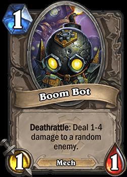 boom bot goblins vs gnomes hearthstone kártya
