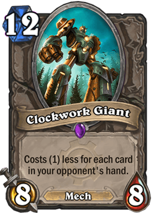 clockwork giant goblins vs gnomes hearthstone kártya
