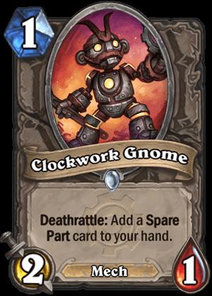 clockwork gnome goblins vs gnomes hearthstone kártya
