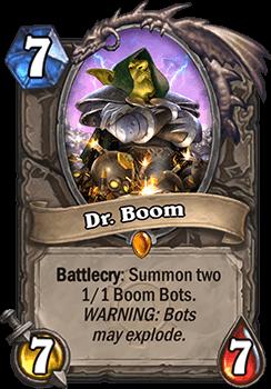 dr boom goblins vs gnomes hearthstone kártya