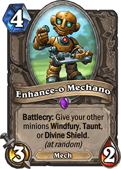 enhance-o mechano goblins vs gnomes hearthstone kártya