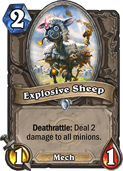 explosive sheep goblins vs gnomes hearthstone kártya