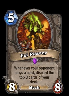 fel reaver goblins vs gnomes hearthstone kártya
