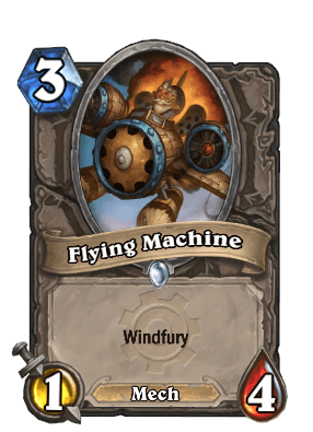flying machine goblins vs gnomes hearthstone kártya