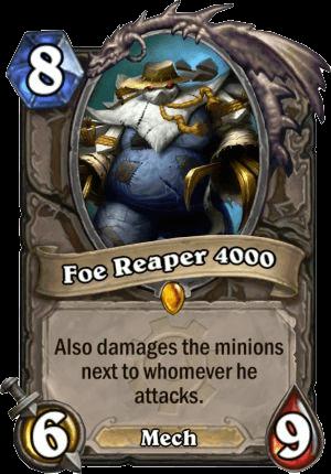 foe reaper 4000 goblins vs gnomes hearthstone kártya