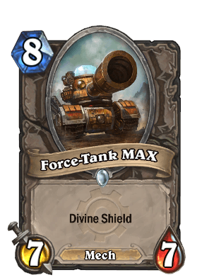 force tank max goblins vs gnomes hearthstone kártya