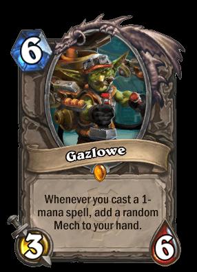 gazlowe goblins vs gnomes hearthstone kártya