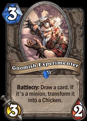 gnomish experiment goblins vs gnomes hearthstone kártya