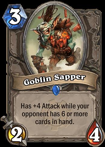 goblin sapper goblins vs gnomes hearthstone kártya