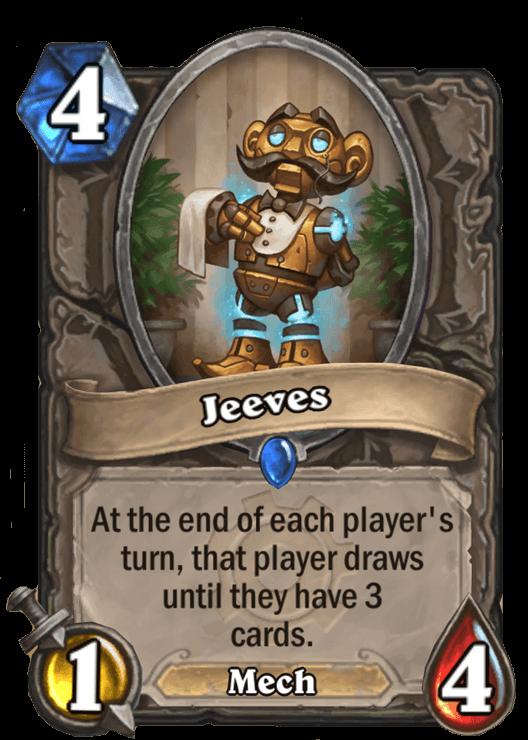 jeeves goblins vs gnomes hearthstone kártya