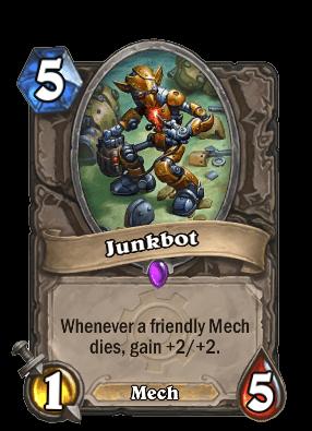 junkbot goblins vs gnomes hearthstone kártya