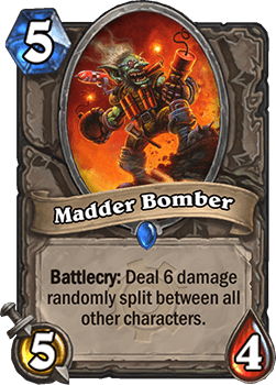 madder bomber goblins vs gnomes hearthstone kártya