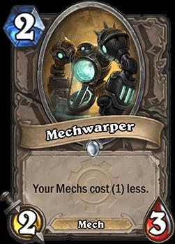 mechwarper goblins vs gnomes hearthstone kártya