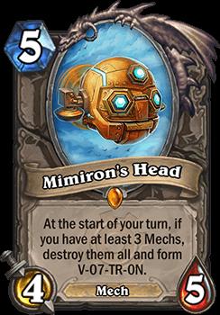 mimirons head goblins vs gnomes hearthstone kártya