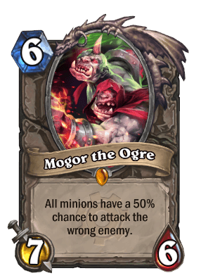 mogor the ogre goblins vs gnomes hearthstone kártya