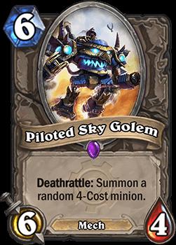 piloted sky golem goblins vs gnomes hearthstone kártya