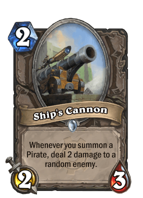 ship cannon goblins vs gnomes hearthstone kártya