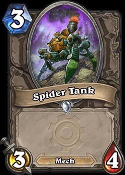spider tank goblins vs gnomes hearthstone kártya