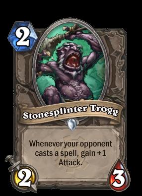 stonesplinter trogg goblins vs gnomes hearthstone kártya
