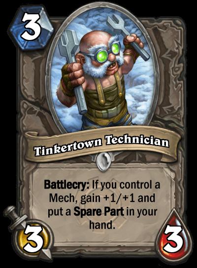 tinkertown technician goblins vs gnomes hearthstone kártya